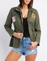 Charlotte Russe Frayed Patch Anorak Jacket