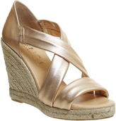 Office Holiday Cross Front Espadrille Wedge