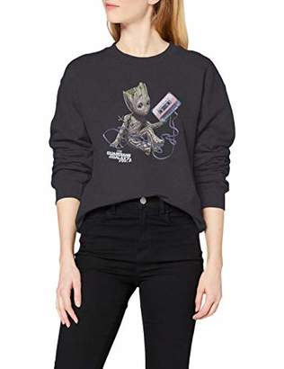 Marvel Women's Guardians of The Galaxy Vol2 Groot Tape T-Shirt,16 (Size:)