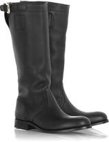 Jil Sander Buffalo leather biker boots