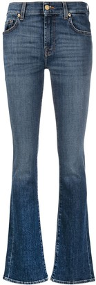 7 For All Mankind High-Rise Straight-Leg Jeans