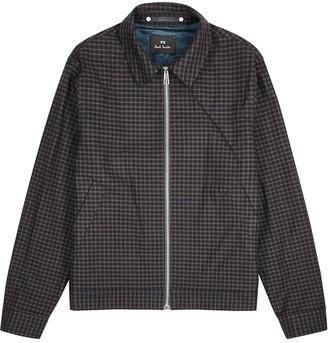 Paul Smith Navy Checked Cotton Jacket