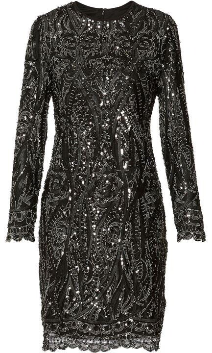 Thumbnail for your product : Gina Bacconi Marzena Sequin Swirl Dress