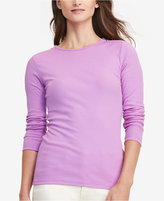 Lauren Ralph Lauren Zip-Shoulder Long-Sleeve T-Shirt