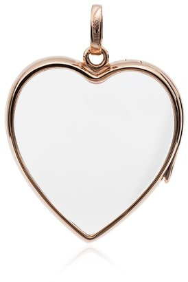 Loquet 14k Rose Gold And Crystal Large Heart Locket