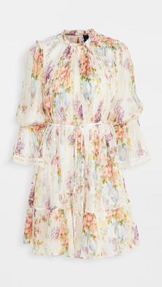 Needle & Thread Floral Diamond Chiffon Dress