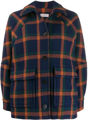 Alberto Biani Oversized Check Jacket