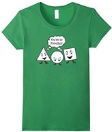 Men's Geometry - Funny Shapes You're So Pointless T-shirt XL