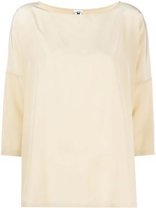 M Missoni 3/4 Sleeves Silk Top