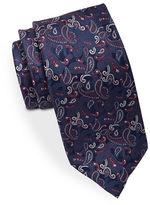 Black Brown 1826 Narrow Paisley Tie