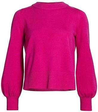 Akris Punto Wool & Cashmere Puff-Sleeve Knit Sweater