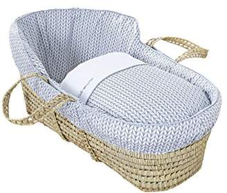 Clair De Lune Barley Bébé High Top Palm Moses Basket (Grey)