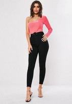 Missguided Black Belted Waist Jeans