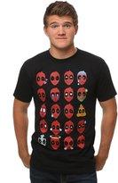Mighty Fine Marvel Deadpool Emojis Men's Shirt