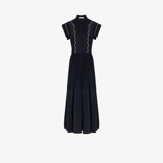 Chloé Cap Sleeve Midi Dress