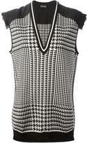 Ungaro houndstooth check sleeveless sweater