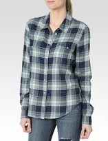 Paige Trudy Shirt - Blue Teal Trellis Louisville