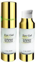 Premium Nature Eye Wrinkle repair Gel, All Natural, Improves Skin Tone, Elasticity & Firmness, and Removes Dark Circles, Puffiness, & Fine Lines, 1 fl oz White by Premium Nature