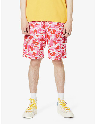 A Bathing Ape Camouflage-print high-rise swim shorts