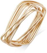 Thalia Sodi Gold-Tone Interlocking Rectangles Bangle Bracelet, Only at Macy's