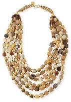 Ashley Pittman Kila Light Horn Multi-Strand Necklace