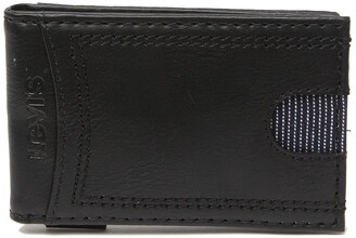 Levi's Delgado RFID Front Pocket Leather Wallet