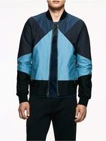 Calvin Klein Platinum Twill Colorblock Jacket