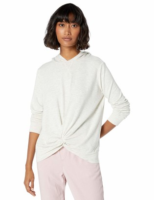 Monrow Women's Supersoft Pullover Hoody w/Twisted Front