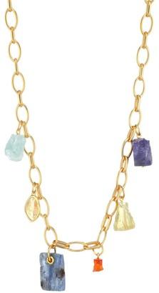 Monica Vinader 18K Goldplated Sterling Silver & Multi-Gemstone Charm Necklace