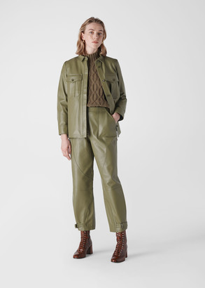 Leather Cargo Trouser