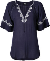 Paige embroidered shortsleeved blouse - women - Viscose - XS