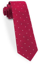 The Tie Bar Dotted Silk Blend Tie