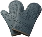 Kuuk Silicone Oven Mitts/Gloves with Non-slip Grip (1 Pair) (Grey)