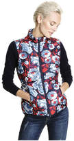 Joe Fresh Women's Print Puffer Vest, Mid Blue (Size XL)