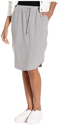 Chaser Cozy Knit Shirttail Midi Skirt (Heather Grey) Women's Skirt