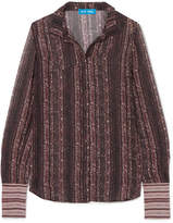 MiH Jeans Evelyn Printed Silk-georgette Shirt - Grape