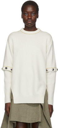 Chloé White Buttoned Sleeve Sweater