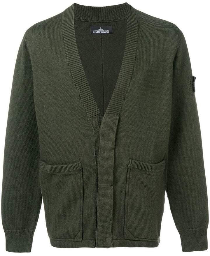 Stone Island Shadow Project long-sleeve fitted cardigan