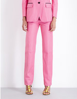 Gucci Tapered leather tuxedo trousers