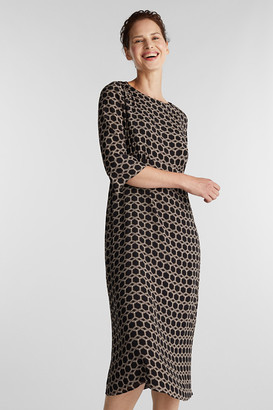 Esprit Midi Dress with Chain Print - 34