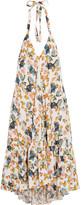 Paul & Joe Fvoisine Floral-print Twill Halterneck Midi Dress - White