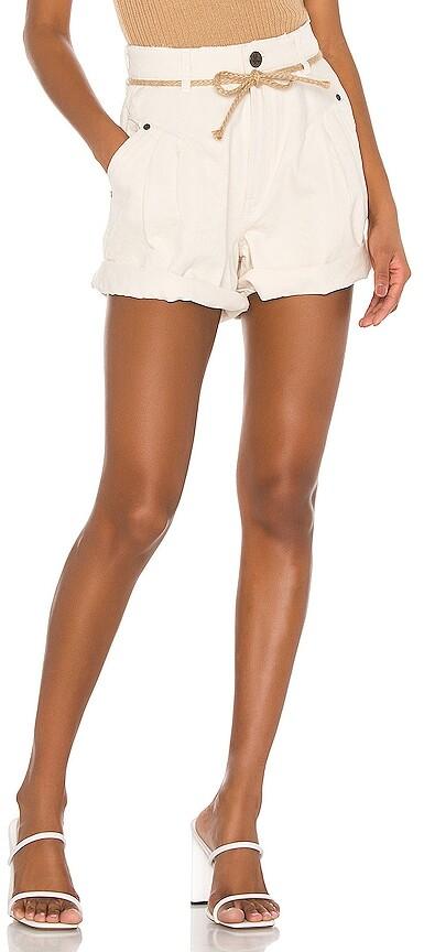 One Teaspoon Womens Worn White Bandit Shorts
