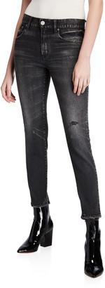 Moussy Velma Black-Wash Skinny Jeans