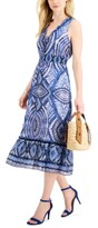 Thumbnail for your product : Taylor Petite Printed Ruffled A-Line Dress