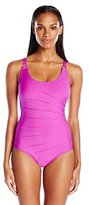 Calvin Klein Women's Starburst Maillot One Piece Swimsuit with Removable Soft Cups