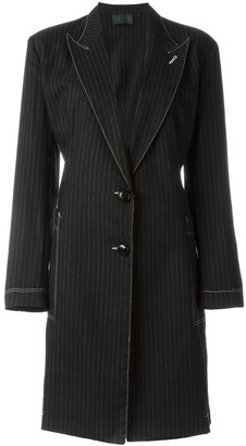 Jean Paul Gaultier Pre-Owned pinstriped coat