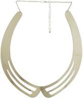 Stripe Metal Open Collar