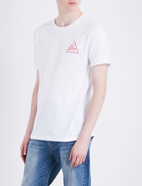 Obey Next round logo-print cotton-jersey T-shirt