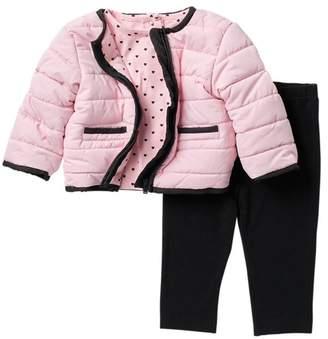 Little Me Pink Black Jacket 3-Piece Set (Baby Girls)