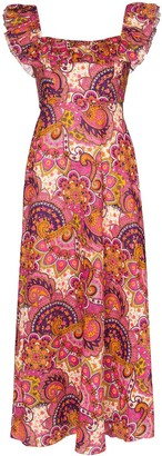 Zimmermann Fiesta paisley-print midi dress
